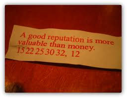 A Good Reputation - More Valuable Than Money