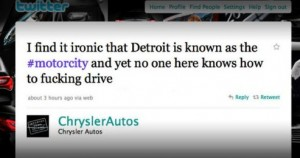 Chrysler F*Bomb Tweet