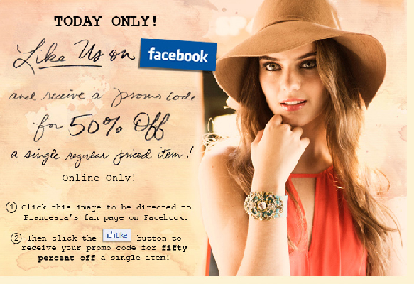 Francesca's Facebook Likes Campaign