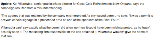 Coca Cola failed graffiti campaign