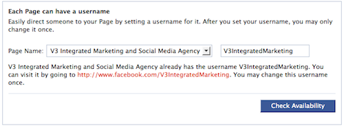 Changing Facebook username