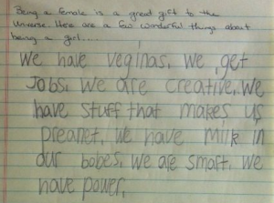 An 8 year old girl explains what makes women great