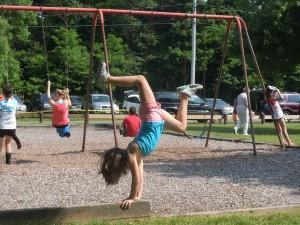 balance beam in the park, kid, gymnastics, olympic gymnastics