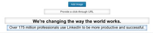 linkedin company headline