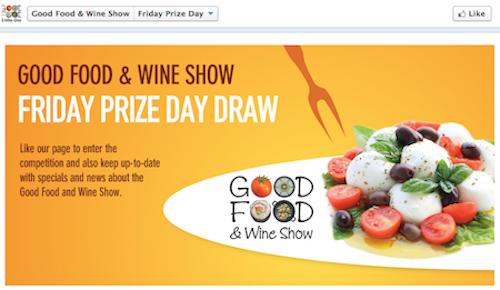 Facebook contest landing page
