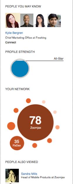 new linkedin profile sidebar