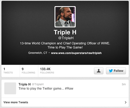 triple h twitter account