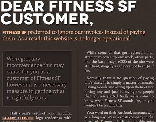 fitness sf website