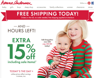 Hanna Andersson Cyber Monday Specials