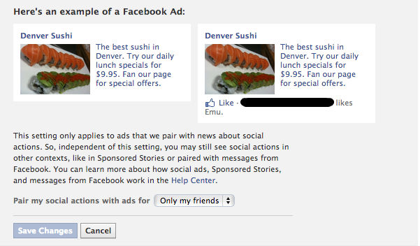social ads opt out