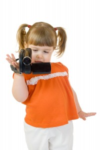 Little Girl With Camcorder