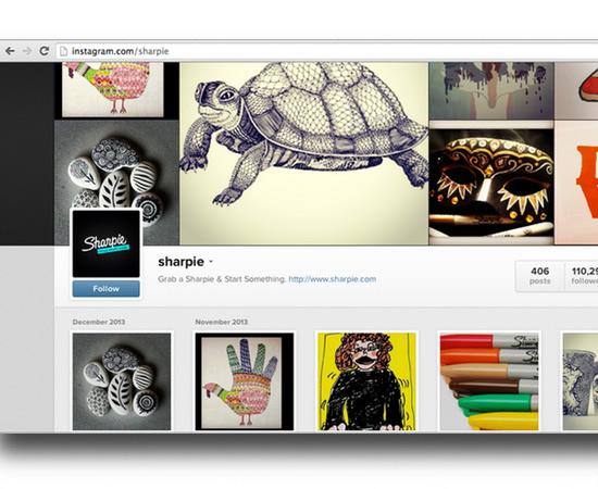 sharpie Instagram example