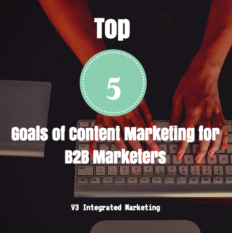 goals of content marketers for B2b